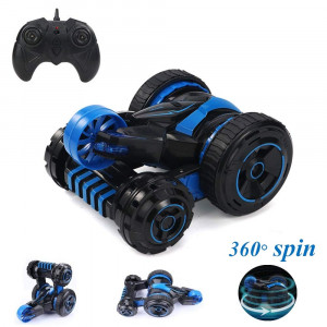 Remote Control Car RC Stunt Car Monster Truck 6CH Double Sided Remote Car for Boys Girls Adults, 2.4GHz Radio 100 Feet Remote Control Range, 360 Spin Flip Rotate, 3 / 4 / 5 Wheel Multi-Drive