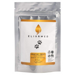 ElixrMED Organic Hemp Oil Treats for Dogs and Cats - Full Spectrum Hemp Oil Nuggets for The Relief of Anxiety, Inflammation, Painful Joints, and Overall Wellness for Your Dogs and Cats