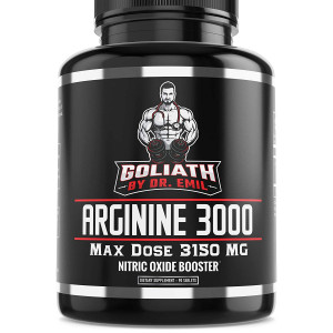 Dr. Emil - L Arginine (3150mg) Highest Pill Dosage - Nitric Oxide Supplement for Muscle Growth, Vascularity, Endurance and Heart Health