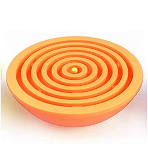 Lizct Balance Labyrinth Maze Ball - Hemisphere Brain Teaser Puzzle Maze Intelligent Board Game Toys for Adults and Children (Orange)