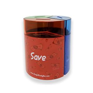 Save Spend Share Money Jar | Three-Part Money Tin Teaches Kids Financial Management - Deposit Coins and Bills