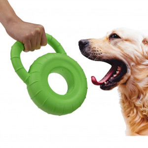 BLUEISLAND Durable Dog Toys Floatable Strong Dog Toys Handy Tire Shape Large Dog Toys for Large Medium Small Dogs Durable Dog Toys for Training and Keep Pets Fit