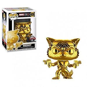 Marvel Funko Pop Studios 10th Anniversary Guardians of The Galaxy Rocket Raccoon Gold Chrome Exclusive Figure