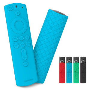 Yeegewin Silicone Cover/Case for Amazon Fire TV 4K/Fire TV (3rd Gen)/Fire TV Cube Compatible with All-New 2nd Gen Alexa Voice Remote Control(Blue)