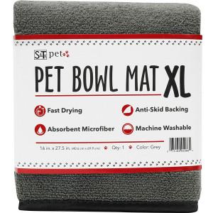 Schroeder and Tremayne, Inc. SandT Microfiber Pet Bowl Mat