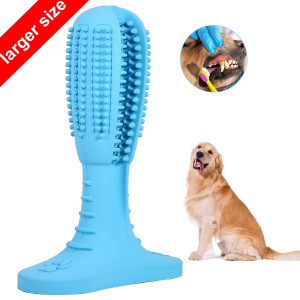 I-pure items Dog Toothbrush Teeth Cleaning Stick - Puppy Dental Care Toothpaste Accessory - Nontoxic Natural Rubber Bite Resistant Funny Gifts for Dogs Pets