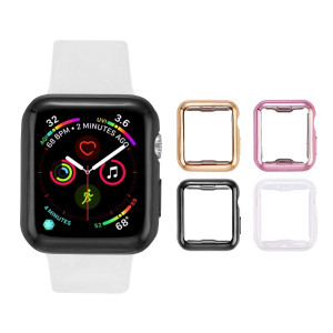 Tranesca Apple Watch case with Screen Protector for 42mm Apple Watch Series 2 and Apple Watch Series 3-4 Pack (Clear+Black+Gold+Rose Gold)