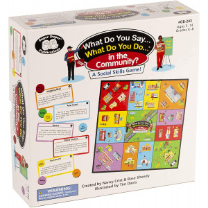 Super Duper Publications | What Do You Say... What Do You Do... in The Community? Social Skills Board Game | Educational Learning Toy for Children