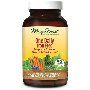 MegaFood, One Daily Iron Free, Supports Optimal Health and Wellbeing, Multivitamin and Mineral Supplement, Vegetarian, 90 Tablets (90 Servings)