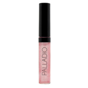 Palladio Lip Gloss, Pink Candy, Non-Sticky Lip Gloss, Contains Vitamin E and Aloe, Offers Intense Color and Moisturization, Minimizes Lip Wrinkles, Softens Lips with Beautiful Shiny Finish