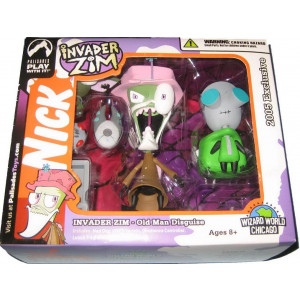 Invader Zim: Zim in Old Man Disguise and Gir in Dog Disguise Action Figure Set by Palisades