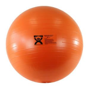 """CanDo Deluxe ABS Inflatable Exercise Ball, Orange, 21.6"""""""