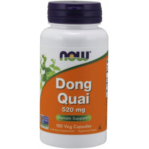 NOW Supplements, Dong Quai (Angelica sinensis) 520 mg, Female Support*, 100 Veg Capsules