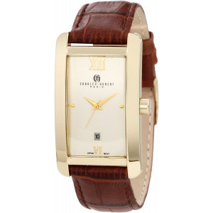 Charles-Hubert, Paris Men's 3670-G Classic Collection Gold-Plated Stainless Steel Watch
