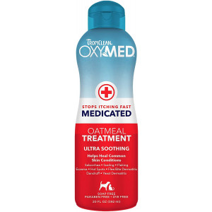 Tropiclean OxyMed Medicated Anti Itch Solutions for Pets, Made in USA - Stops Itching Fast