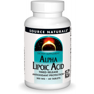 Source Naturals Alpha Lipoic Acid - Supports Healthy Sugar Metabolism, Liver Function and Energy Generation - 60 Timed Release Tablets