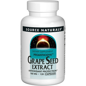 Source Naturals Grape Seed Extract, Proanthodyn 100 mg Antioxidant Protection and Supports Healthy Aging Brain - 120 Capsules