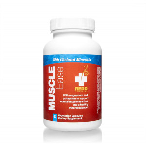 Redd Remedies - Muscle Ease, Supports Magnesium Potassium Balance for Healthy Muscle Function, 60 Count