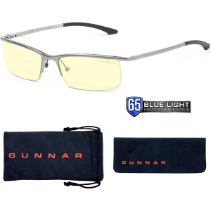 Gaming Glasses | Blue Light Blocking Glasses | Emissary/Mercury by Gunnar | 65% Blue Light Protection, 100% UV Light, Anti-Reflective To Protect and Reduce Eye Strain and Dryness