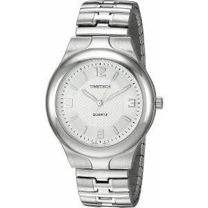 Viva Time Men's 2808M Timetech Stretch Bracelet Analog Display Japanese Quartz Silver Watch