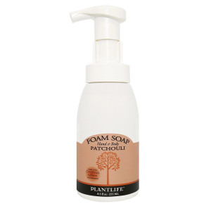 Patchouli Foam Soap - Made with Organic Ingredients- 8.5 oz
