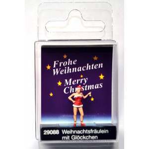 Preiser 29088 Christmas Girl with Bell HO Model Figure