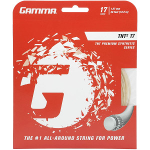 Gamma TNT2 Tennis Racket String Premium Synthetic Series- Enhances Playability, Durability And Control For All Playing Styles - 15L, 16, 17 or 18 Gauge (Black, Blue, Natural, Orange, Pink, Yellow)