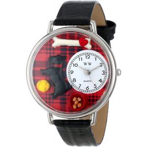 Whimsical Watches Unisex U0130067 Scottie Black Skin Leather Watch