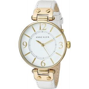 Anne Klein 109168WTWT Round Dial Leather Strap Watch