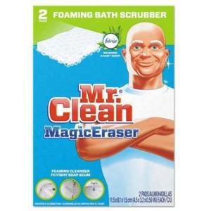 Mr. Clean PAG27141 Magic Eraser Bathroom Scrubber 2 per Box, White
