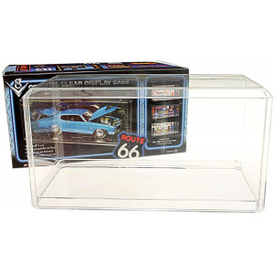 """Pioneer Plastics Clear Acrylic Display Case for Large 1:18 Scale Cars  15.5"""" x 7"""" x 6"""""""