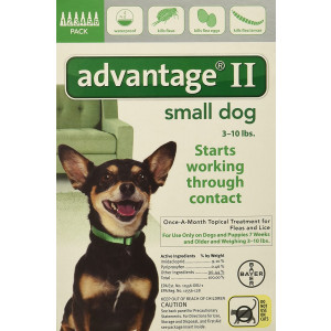 Bayer Animal Health Advantage II for Dogs 10 lbs and Under 6 Pack