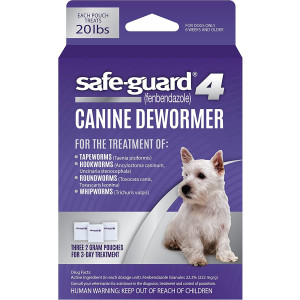 Excel Safe-Guard 4, Canine Dewormer for Dogs, 3-Day Treatment