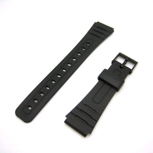 Casio Black Resin Band For F-105 F-91 Watches