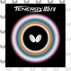 Butterfly Tenergy 05 FX Table Tennis Rubber Sheet - 1.7 mm, 1.9 mm, or 2.1 mm - Red or Black - 1 Inverted Table Tennis Rubber Sheet - Professional Table Tennis Rubbers
