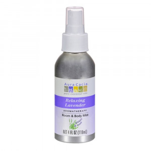 Aura cacia Relaxing Lavender Aromatherapy Room and Body Mist 4 Oz (pack of 4)