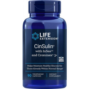 Life Extension CinSulin with InSea2 and Crominex 3+, 90 Vegetarian Capsules