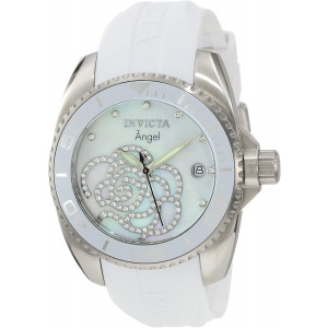 """Invicta Women's 0486 """"Angel Collection"""" Stainless Steel Cubic Zirconia-Accented Watch"""