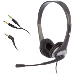 Cyber Acoustics Stereo Headset, Headphone with Microphone, Great for K12 School Classroom and Education (AC-204), Gold