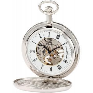 Charles-Hubert, Paris 3909-W Classic Collection Hunter Case Mechanical Pocket Watch