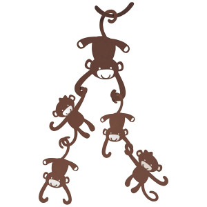 Lambs and Ivy Ceiling Sculpture, Brown Monkey