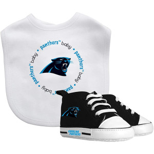 Baby Fanatic NFL Legacy Infant Gift Set, Carolina Panthers, 2Piece Set (Bib and PRE-Walkers)