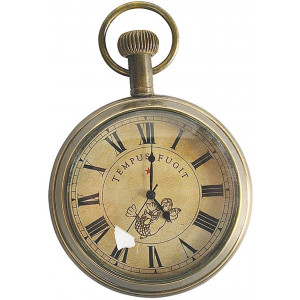 Authentic Models, Victorian Pocket Watch, Vintage-Inspired Roman Numerals Display - Bronze Finish