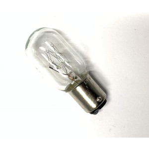 Generic Compatible with/Replacement for Light Bulb, Kenmore, short glass light bulb, 15W bayonet base, push in and twist, 2 posts on bottom of bulb