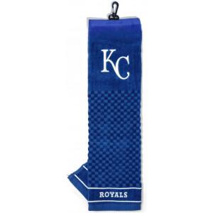 Team Golf MLB Kansas City Royals Embroidered Golf Towel, Checkered Scrubber Design, Embroidered Logo