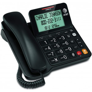 ATandT CL2940 Corded Phone with Caller ID/Call waiting, Speakerphone, XL Tilt Display, XL Buttons and Audio Assist Volume Boost