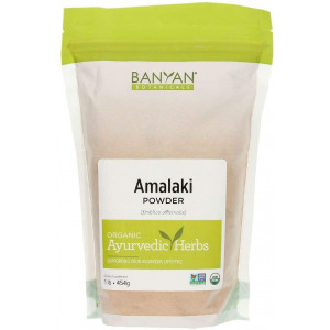 Banyan Botanicals Amalaki Powder  Organic Amla Powder  Nourishing, Gently Cleansing, Supports The Immune System and Promotes Healthy Energy*  1lb.  Non GMO Sustainably Sourced Vegan