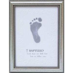 The Grandparent Gift Frame Wall Decor, Baptized Footprint