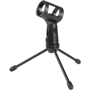 Gator Frameworks Mini Tripod Desktop Microphone Stand with Clip for Wireless Mics and Collapsible Legs (GFW-MIC-0251)