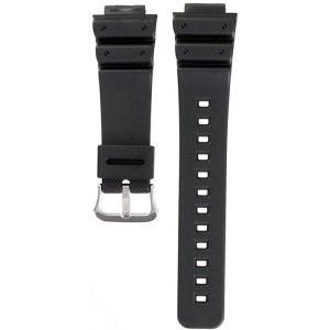 Casio Black Resin Watch Band - 16mm